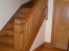 Restauration rampes et poteaux d'escalier